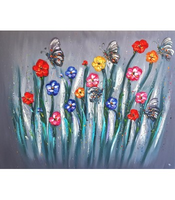 Flowers and Butterflies (SOLD)