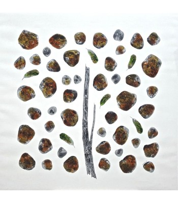 Stones and leaves (1200mm x 1200mm)