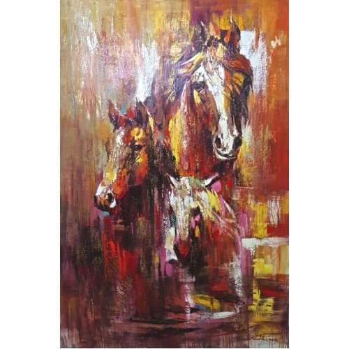 Abstract Horses Front (1000mm x 1500mm)