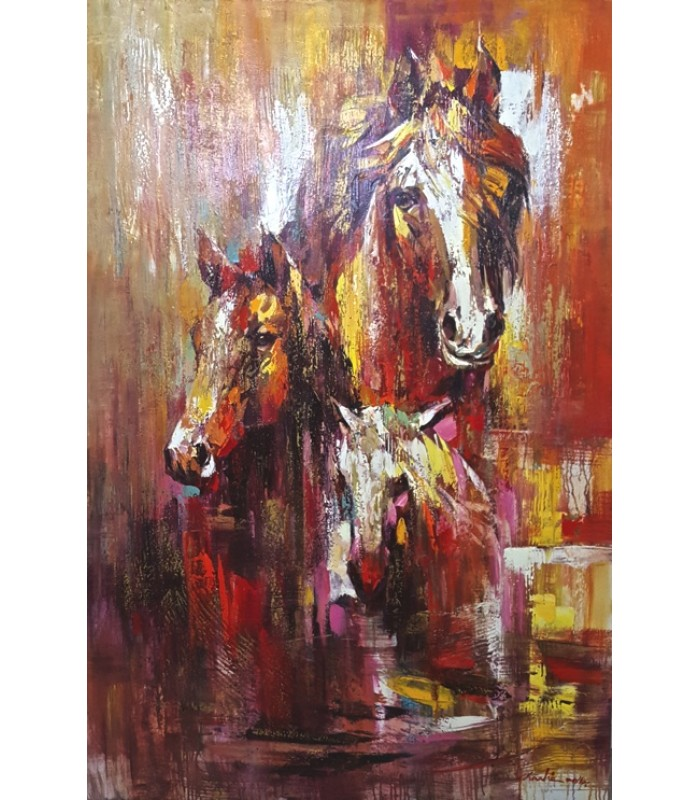 Abstract Horses Front (SOLD)