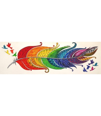 Rainbow Feather 2 (SOLD)