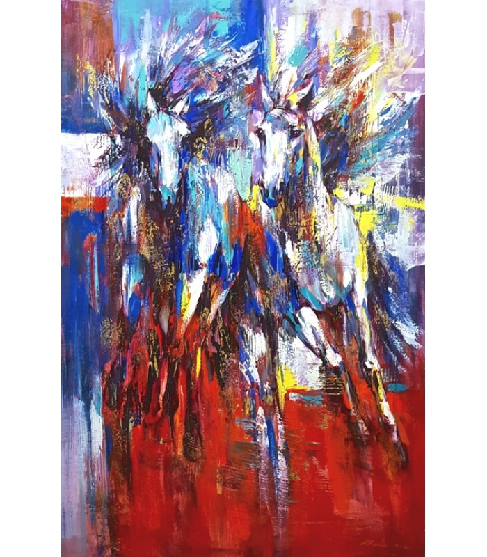 Abstract horses (SOLD)