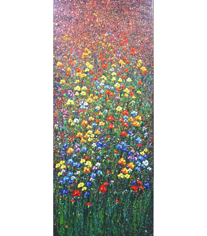 Field of Flowers (1800mm x 750mm) SOLD