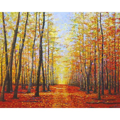 Path in Autumn Forest (1500mm x 1200mm)