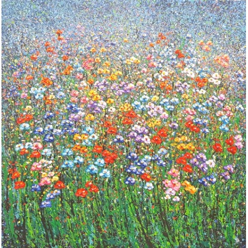Field of Flowers (120cm x 120cm)