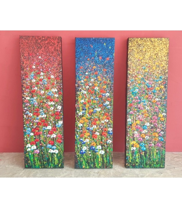 Field of flowers (set of 3) SOLD