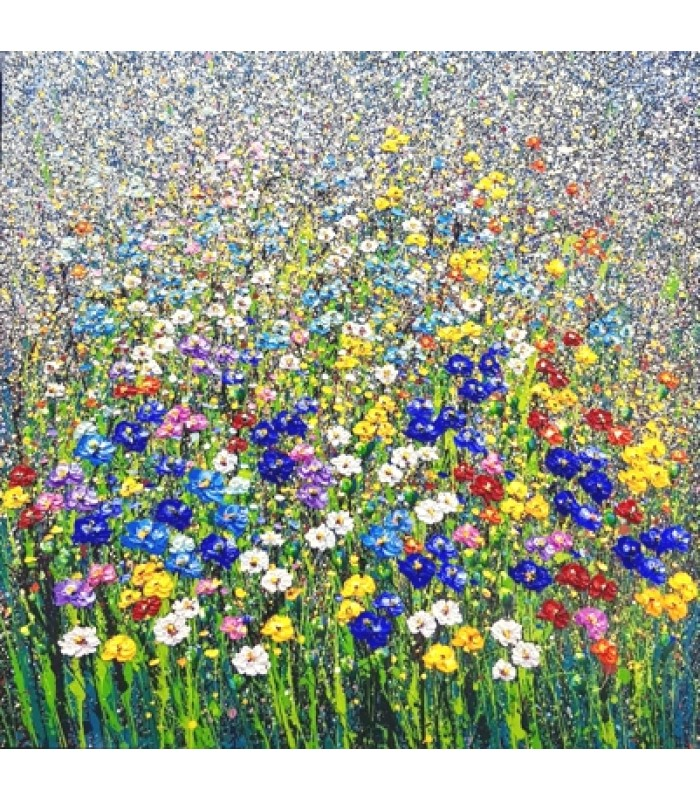 Field of flowers (100cm x 100cm) SOLD