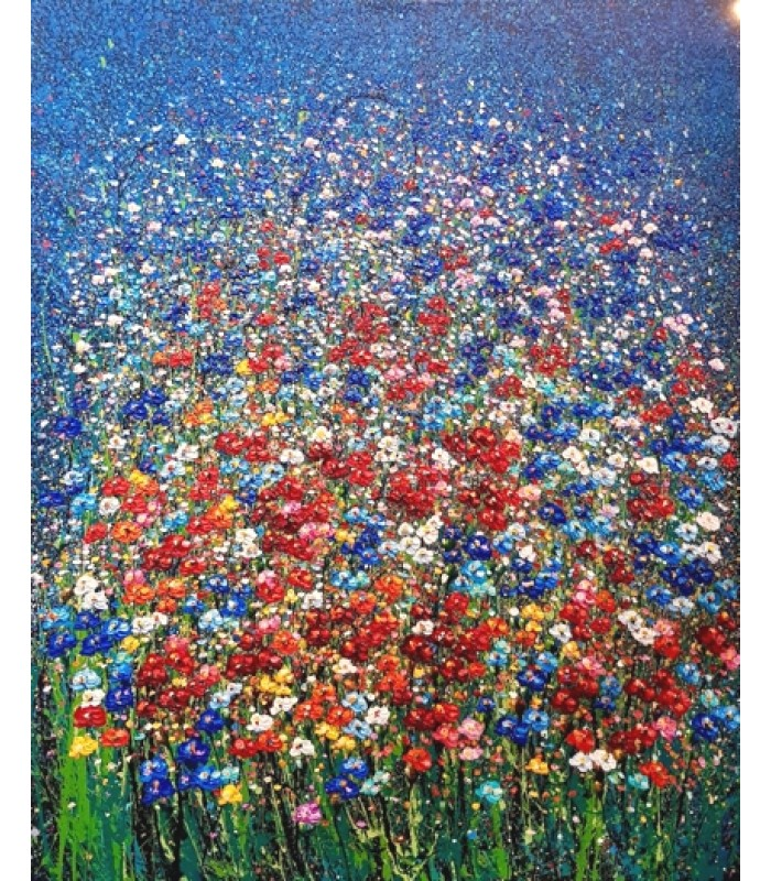 Field of flowers 120cm x 150cm (SOLD)