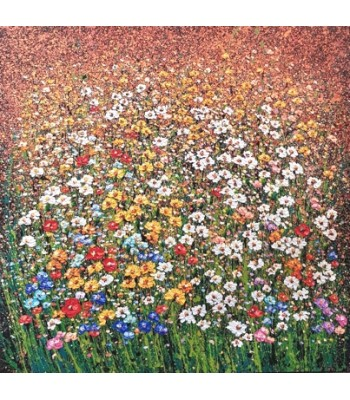 Field of flowers 120cm x 120cm (SOLD)