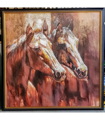 Two Beauties (900mm x 900mm) Framed