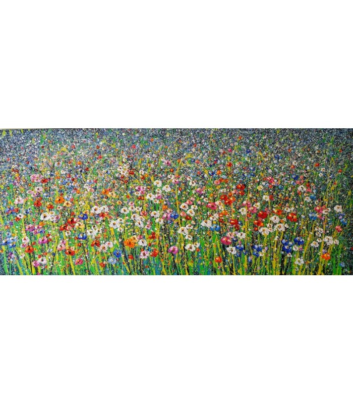 Field of Flowers (180cm x 75cm) SOLD