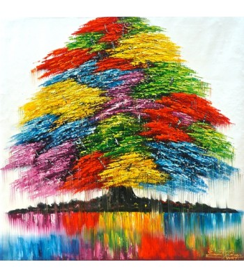 Rainbow Tree (100cm x 100cm) SOLD