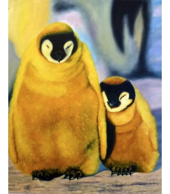Mother and Baby penguin (SOLD)