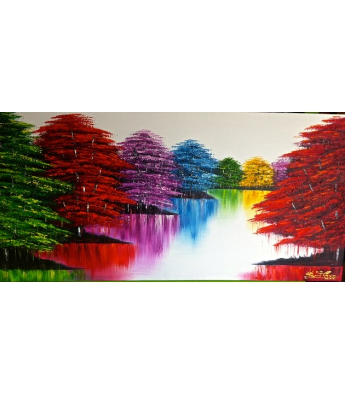 Colourful tree scene (SOLD)